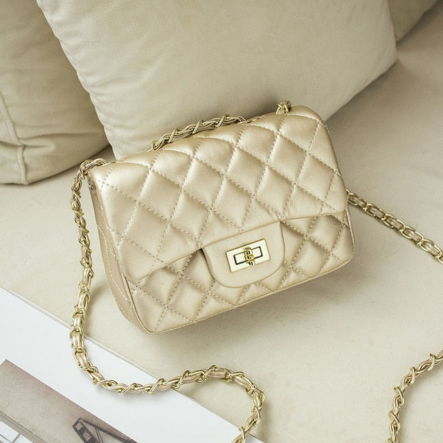 Vintage Leather Quilted Luxury Shoulder