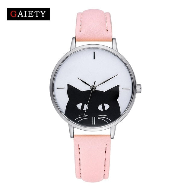 Steel Case Cat Watch