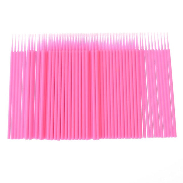 100 Pieces Durable Micro Disposable Eyelash Extension Applicator