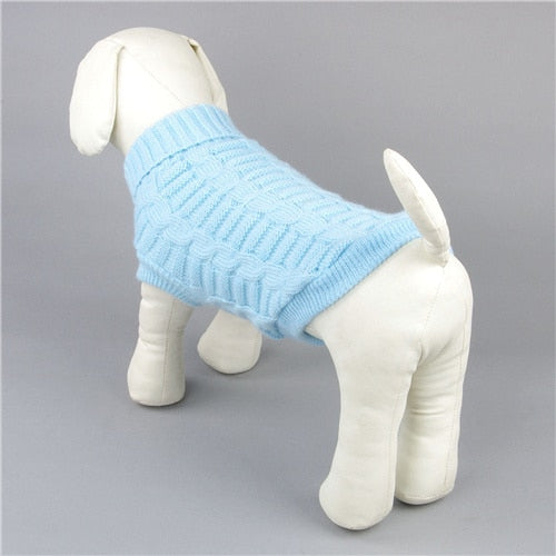 Winter Warm Pet Solid Knitted Sweater