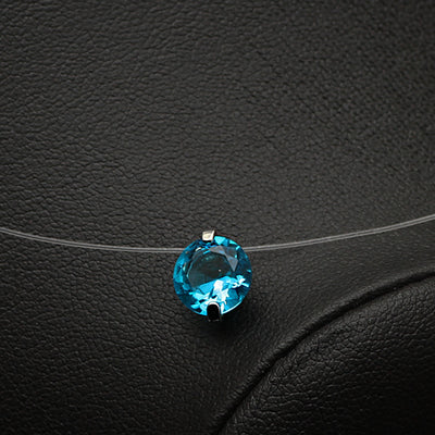 Invisible Line Colorful Zircon Necklace