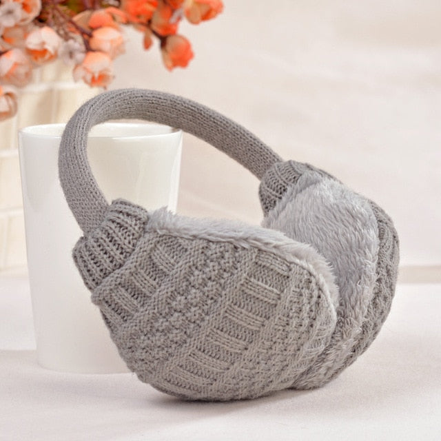 Winter Knitted Earmuffs