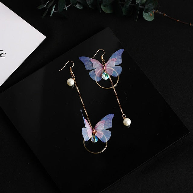 Yarn Butterfly Earring