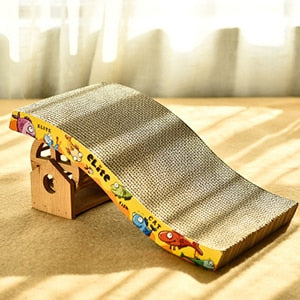 Arch Bridge Shape Corrugated Board Grinding Nails Cartoon Interactive Toys For Cat