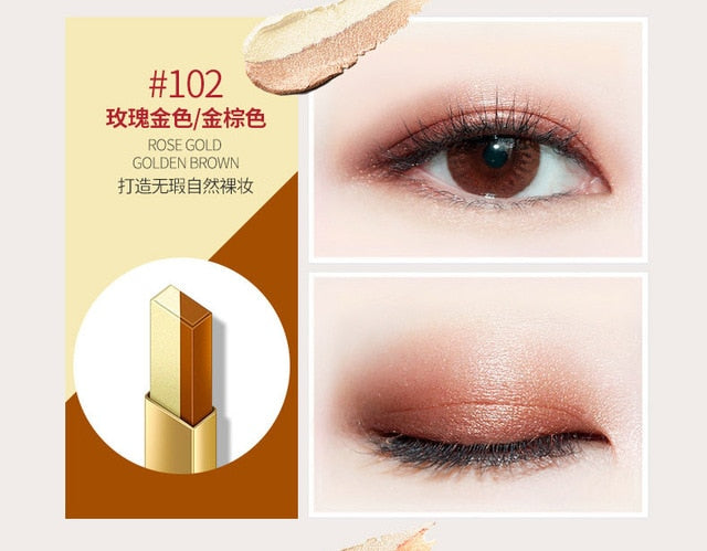 Two-Colors Eye Shadow With Four Different Colors Eyeliner Stamp