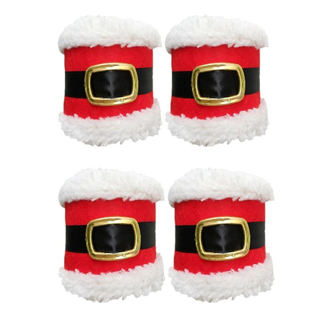 1/4 Pieces Santa Claus Napkin Ring Christmas Towel Holder Christmas Dinner Table Decor