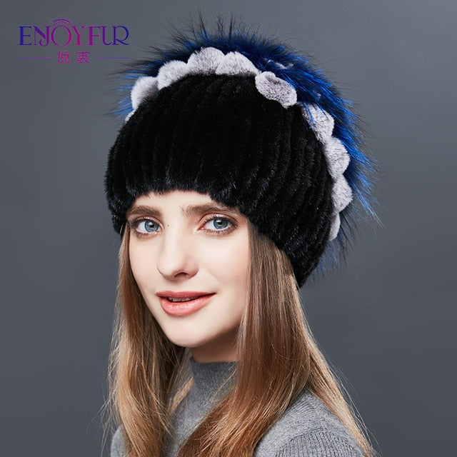 Real Mink Fur Winter Hat
