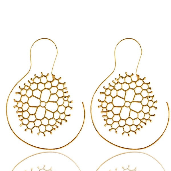 Elegant Honeycomb Earrings