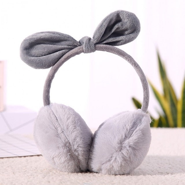 3 Styles Bow Plush Winter Earmuff
