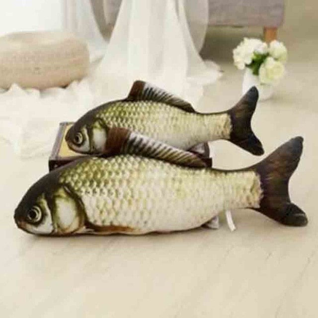 Stuffed Fish Shape Sisal Hemp Cat Scratch Board