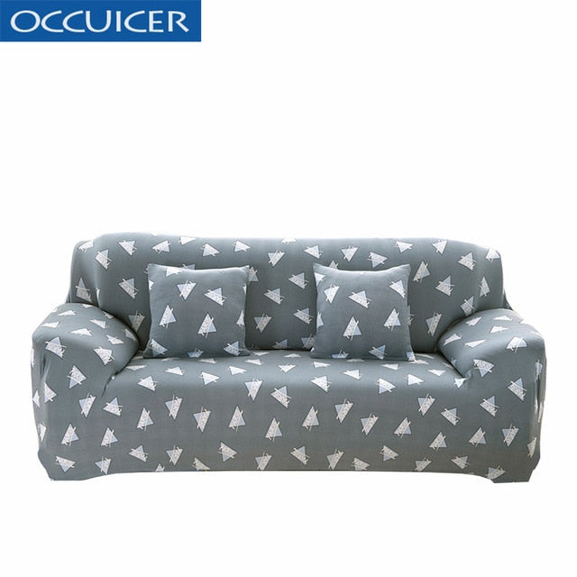 Leaves pattern Sofa Covers Elastic Stretch Universal Sectional Throw Couch Corner Cover Cases