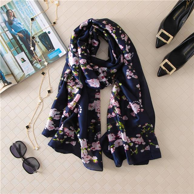 Luxurious Women's Floral Silk Scarf11