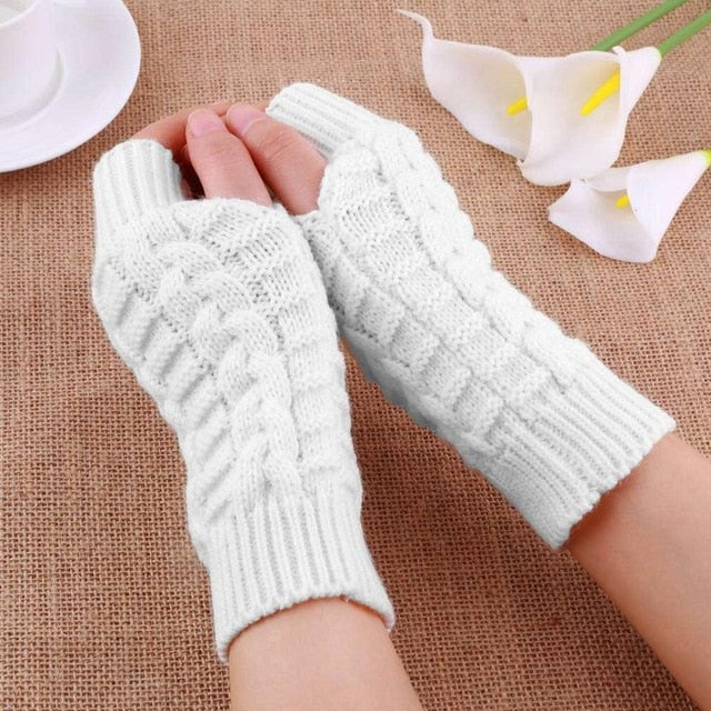 Unisex Winter Knitted Stretchy Gloves