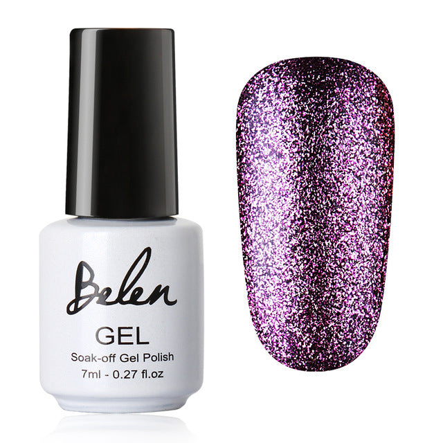 Black White Nail UV Gel Polish Bling Glitter Platinum - Toyzor.com
