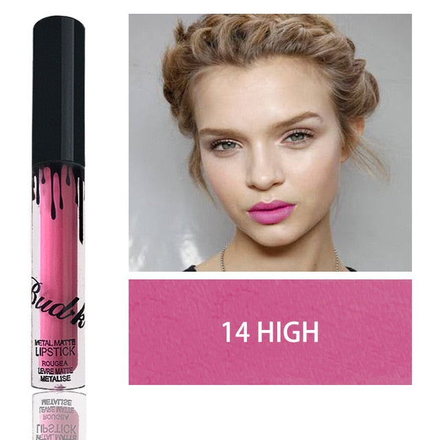 18 Colors  Waterproof Shimmer Liquid Matte Lipstick - Toyzor.com