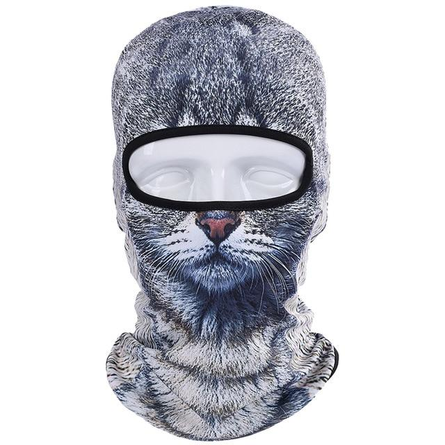 3D Full Face Mask Cat Skullies Beanie - Toyzor.com