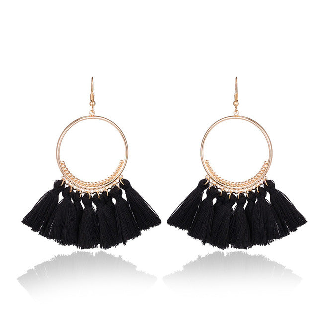 Bohemian Ethnic Fringed Tassel Earrings - Toyzor.com