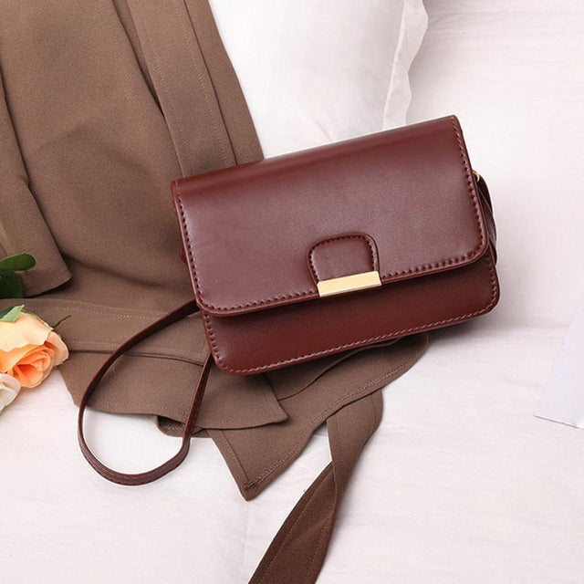 2018 Simple Fashion Leather Messenger Designer Women's Fashion Crossbody Bags