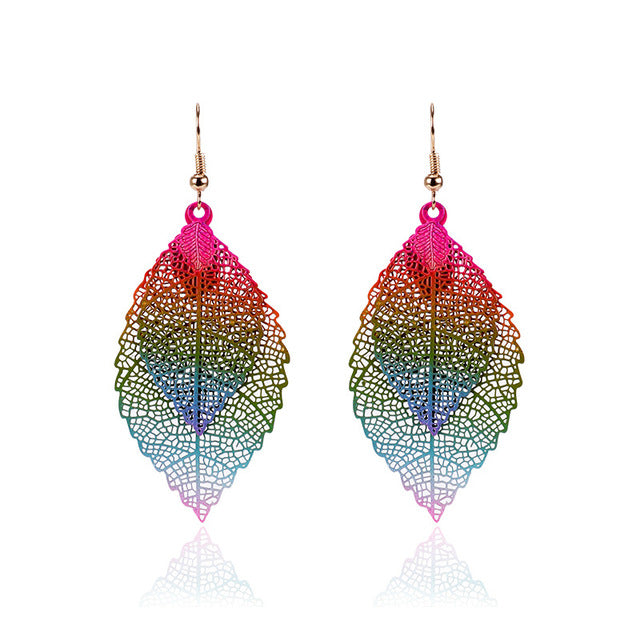 Vintage Leaves Drop Earrings