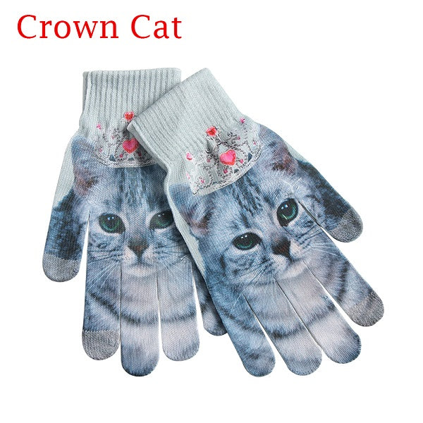 Printed Touch Screen Unisex Gloves