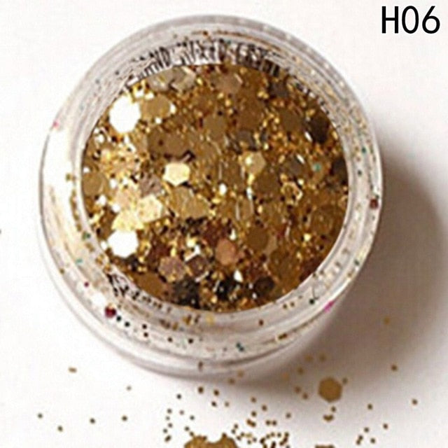 Hybrid Sequins Glitter Round Colorful Beauty Makeup