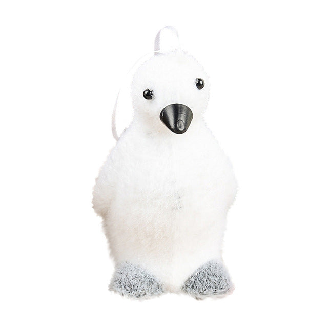 White Cute Animal Foam Christmas Pendant Drop Ornaments