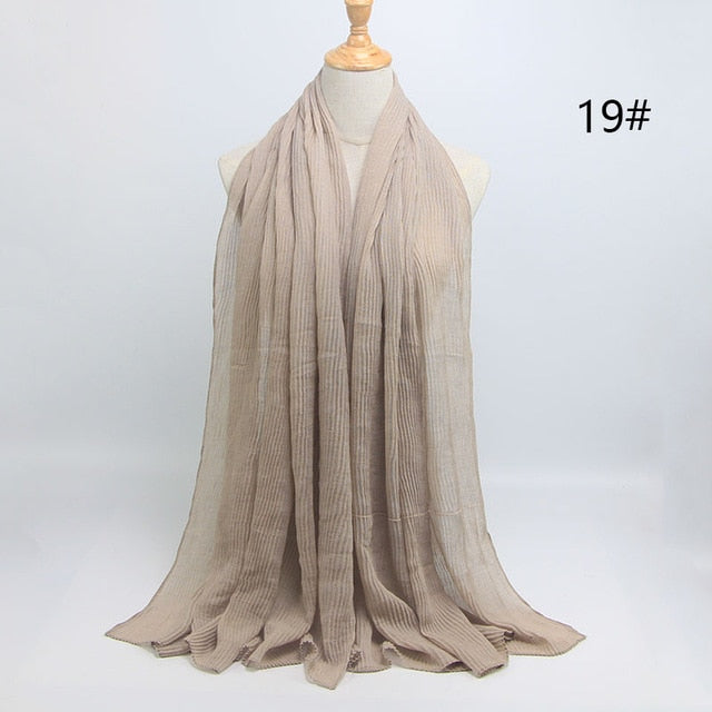 Bubble Plain Cotton Scarf - Toyzor.com