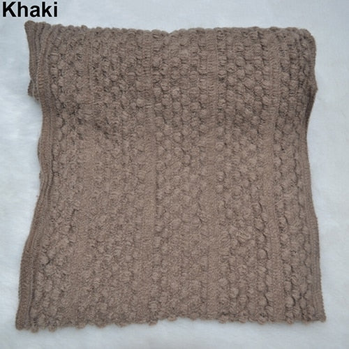 Knitted Cowl Neck Scarf