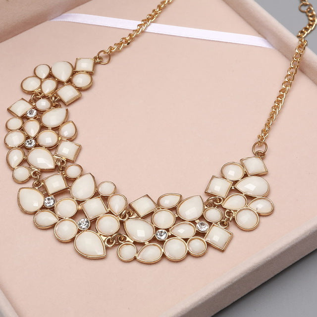 8 Colors Multi color Big Pendant Clavicle Chain Necklace