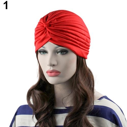 Indian Style Stretchable Pleated Turban - Red