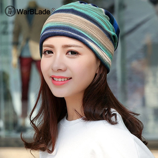 Knitted Winter Skullies Hats for Women