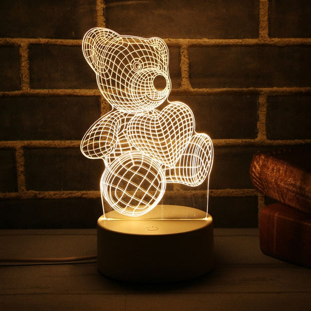 3D LED Lamp Christmas Decoration  Night Light for Home Christmas Tree Ornaments Decor