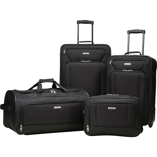 American Tourister 4 Piece Luggage Set, Color - Black
