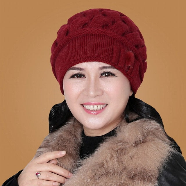 Rabbit Wool Knitted Yarn Hat