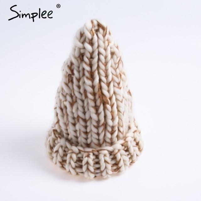 Knitted Bubble Wool Hat - Color 3