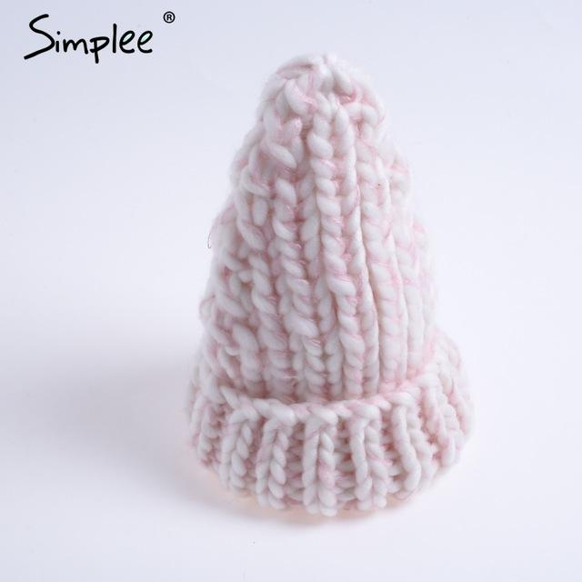 Knitted Bubble Wool Hat - Color 4