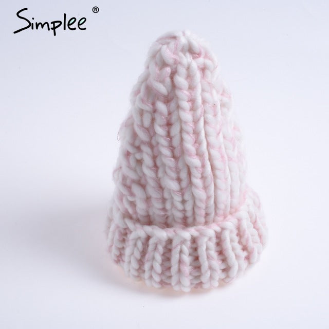 Knitted Bubble Wool Hat