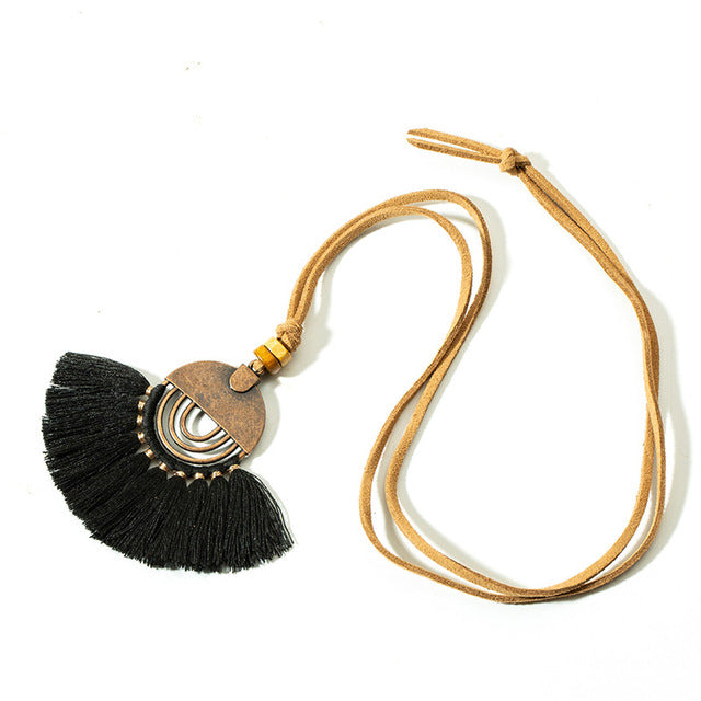 Bohemia Round Hollow Tassel necklace - Toyzor.com