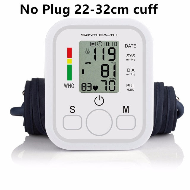 Home Health Care 1pcs Digital Lcd Upper Arm Blood Pressure Monitor