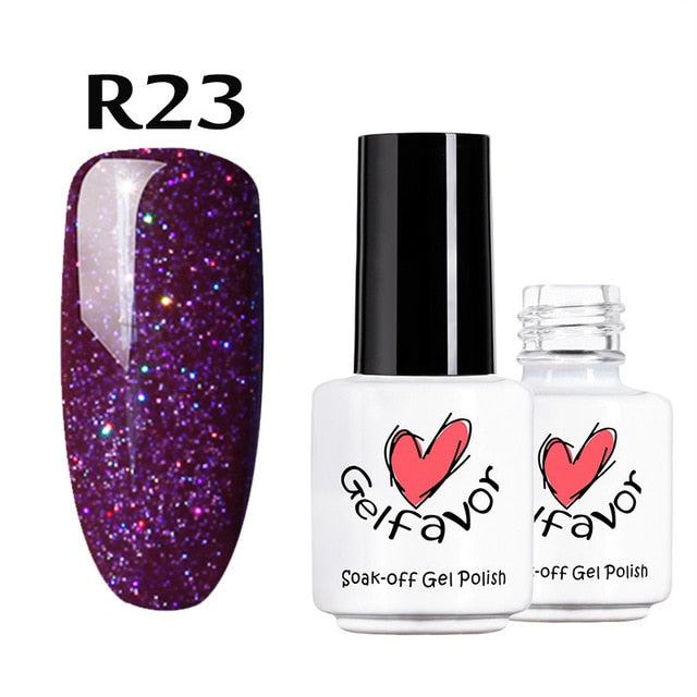 Neon Rainbow Series Gel Nail Polish Manicure Set