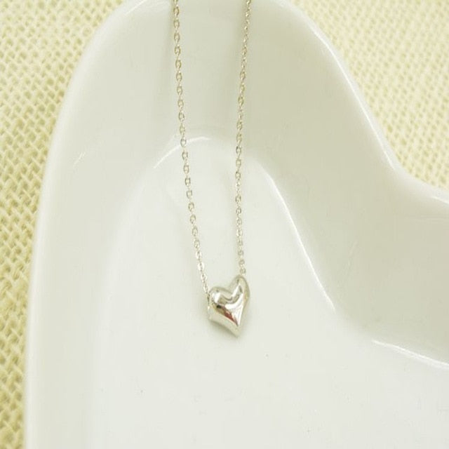 Gold Heart Shaped pendant necklace