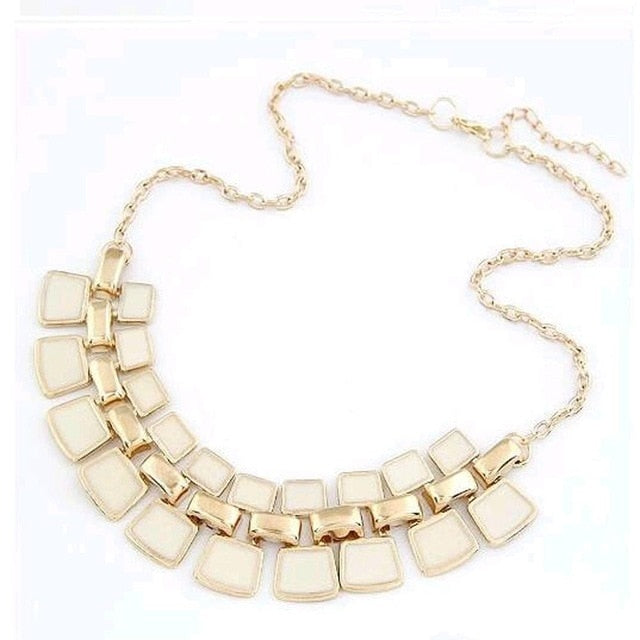 Plated Enamel Bling  Necklace