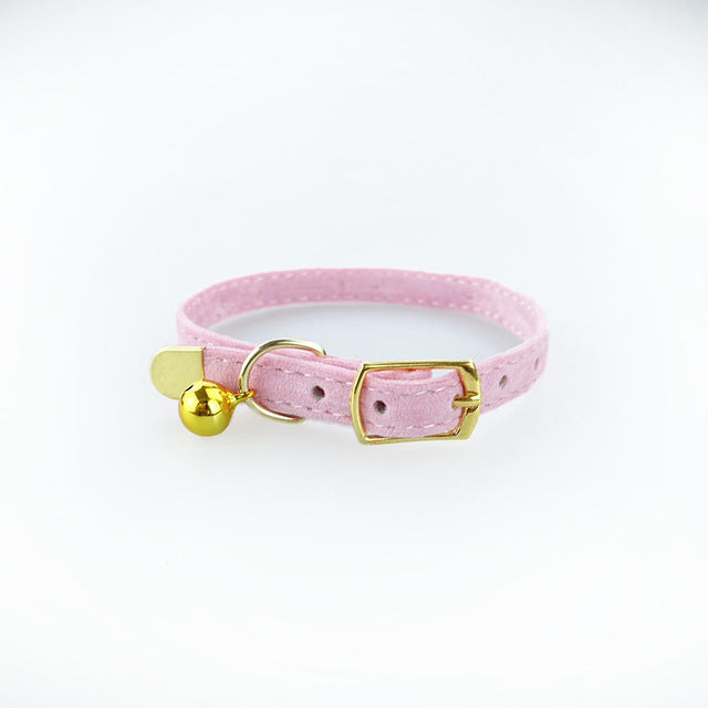 Adjustable Cat Collar with Bell for Small Dogs - Toyzor.com