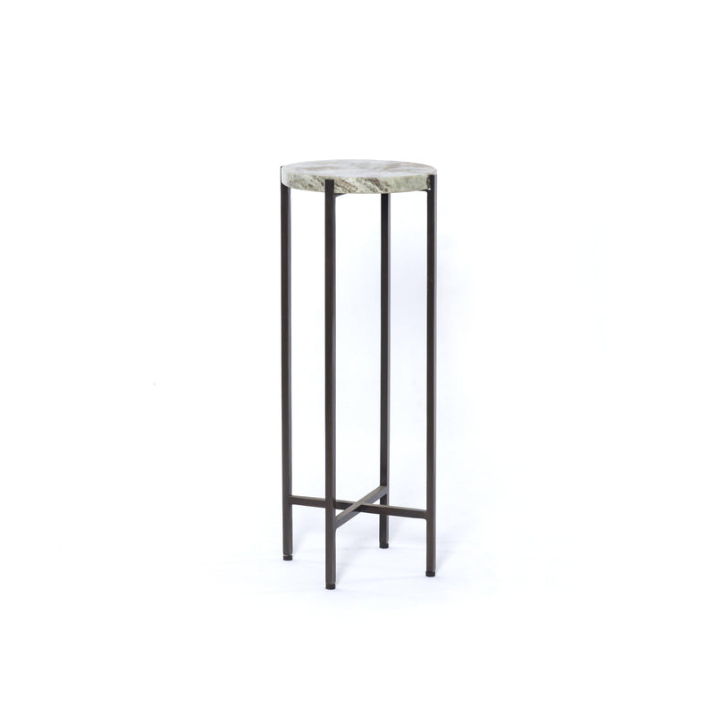 Hannah Accent Table-Ash Brown Marble