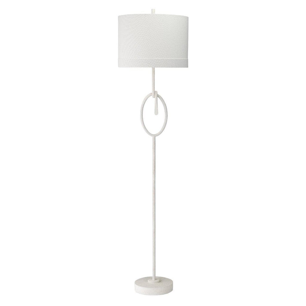 Knot Floor Lamp in White Gesso