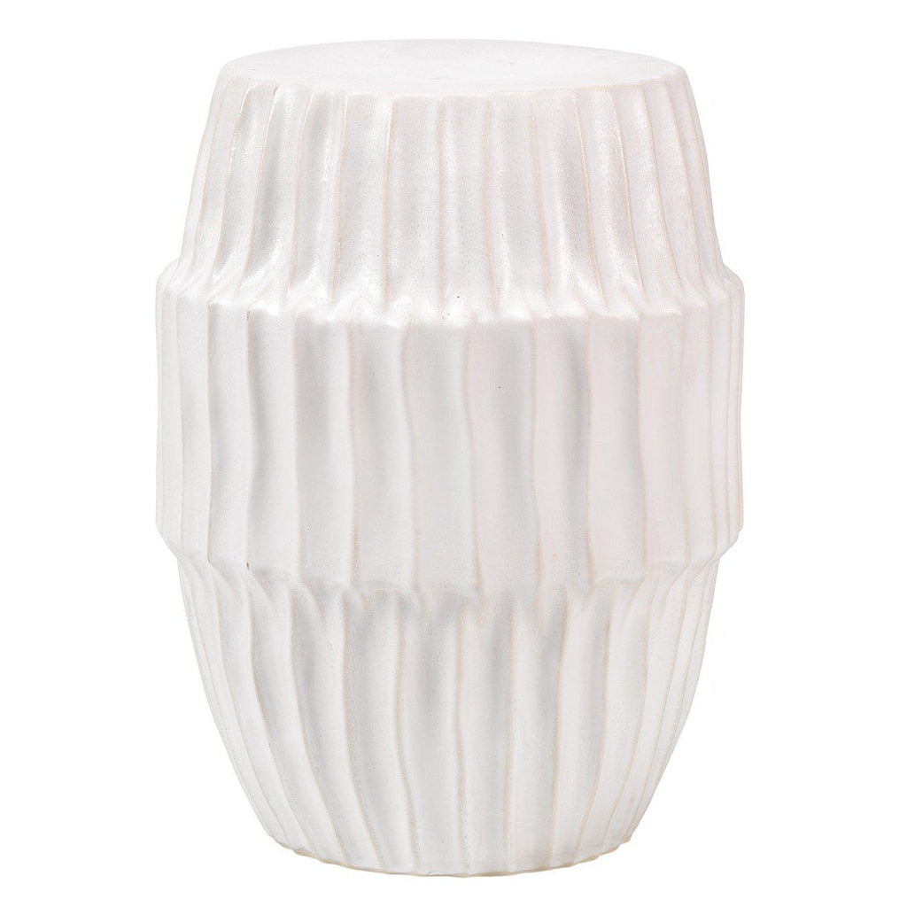 White Ceramic Side Table