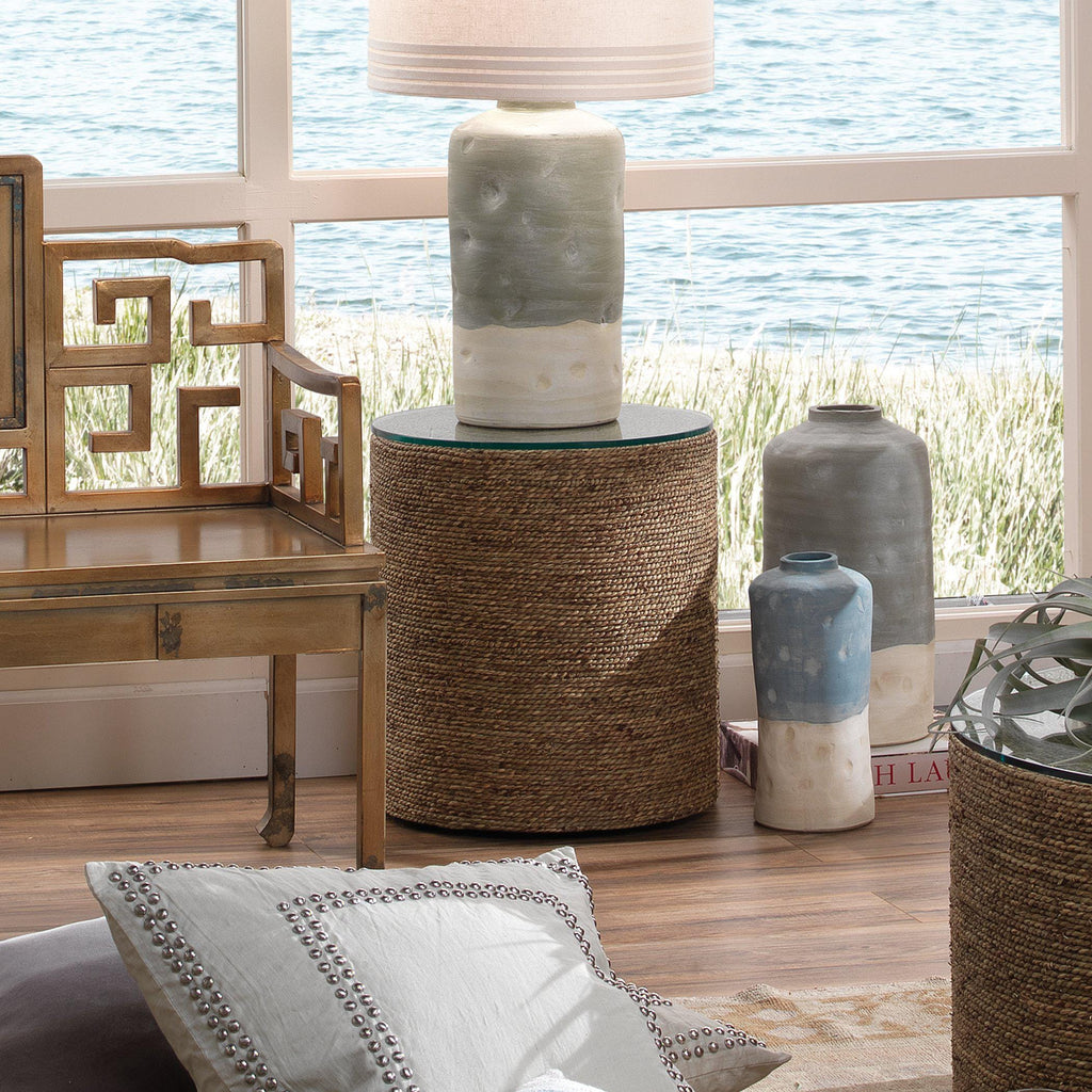 Harbor Side Table in Natural Seagrass