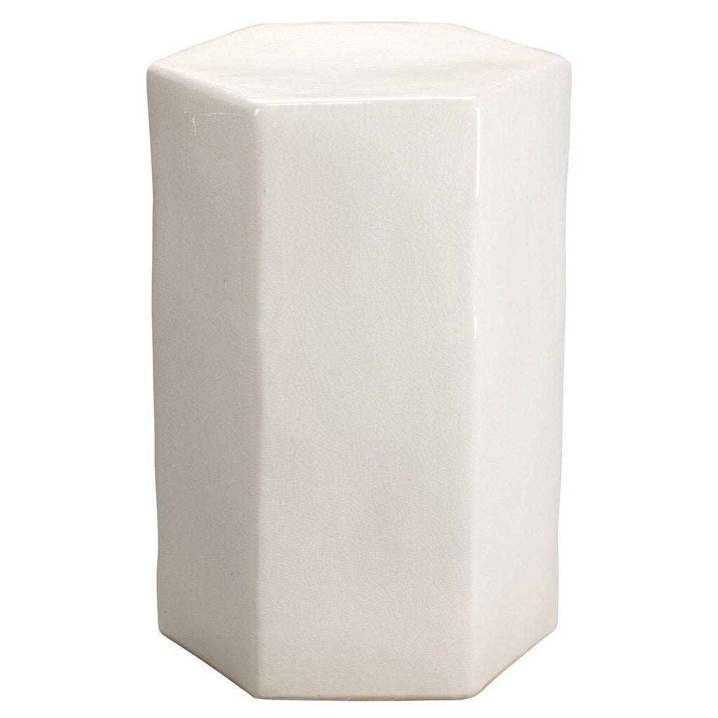 Porto White Side Table