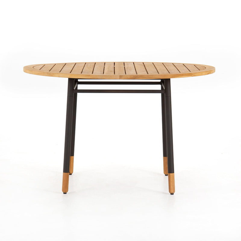 Lyra Outdoor Dining Table-Natural Teak