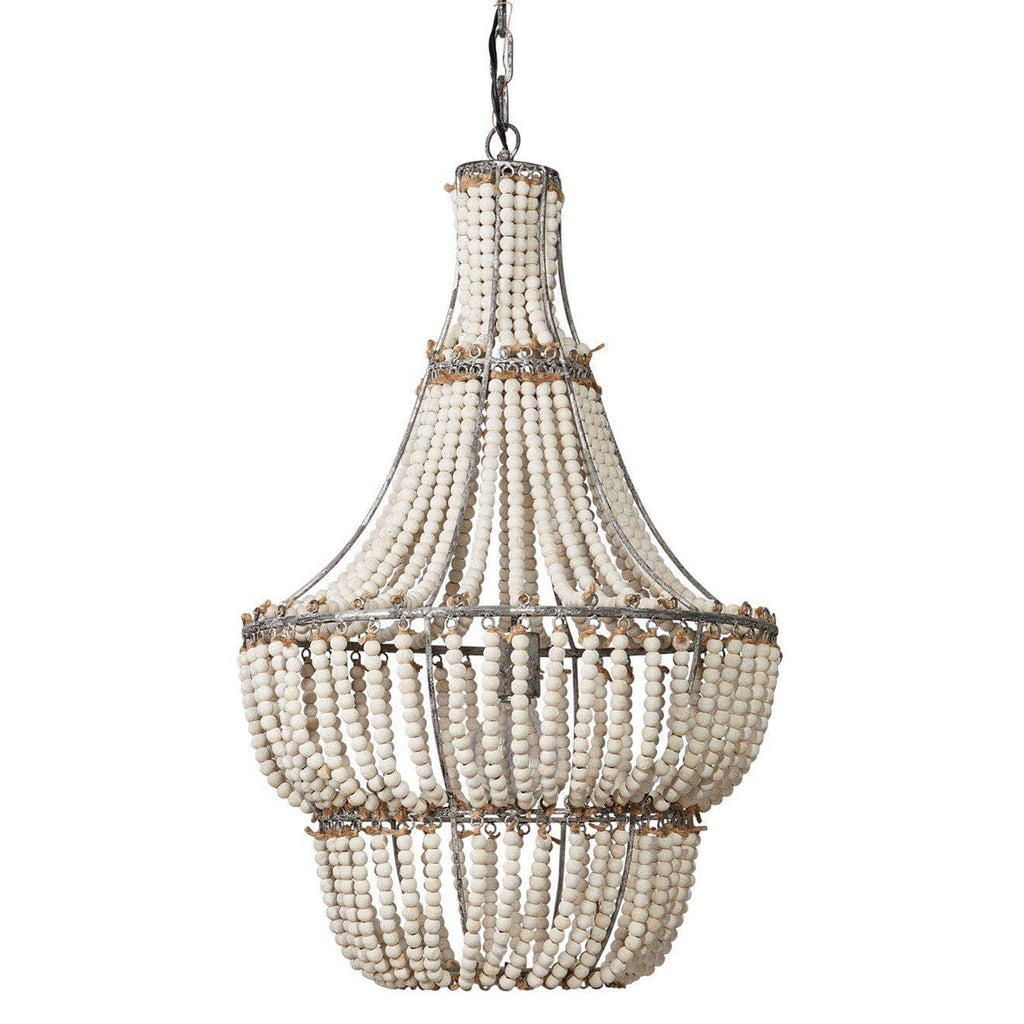Blanca Chandelier in White Beads